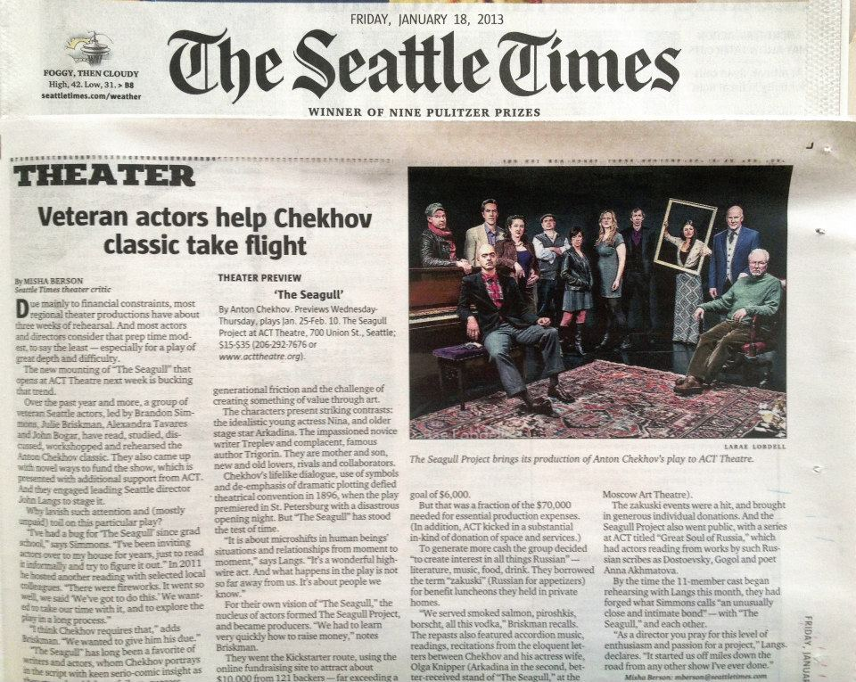 2013-01-18 The Seattle Times -  Seagull Project