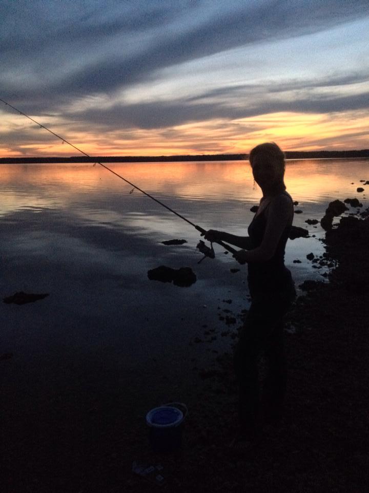 Me night fishing in Miami.