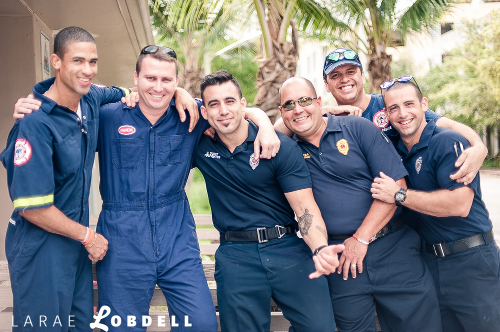 City of Miami Firefighters by LaRae Lobdell