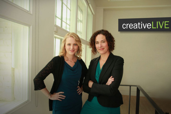 LaRae Lobdell & Kenna Klosterman from the set of CreativeLive by Clay Blackmore