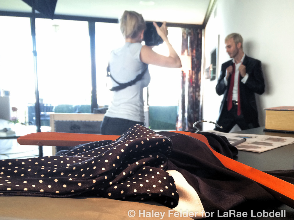 Behind the scenes of Stefano Paturi photo shoot July 31, 2014