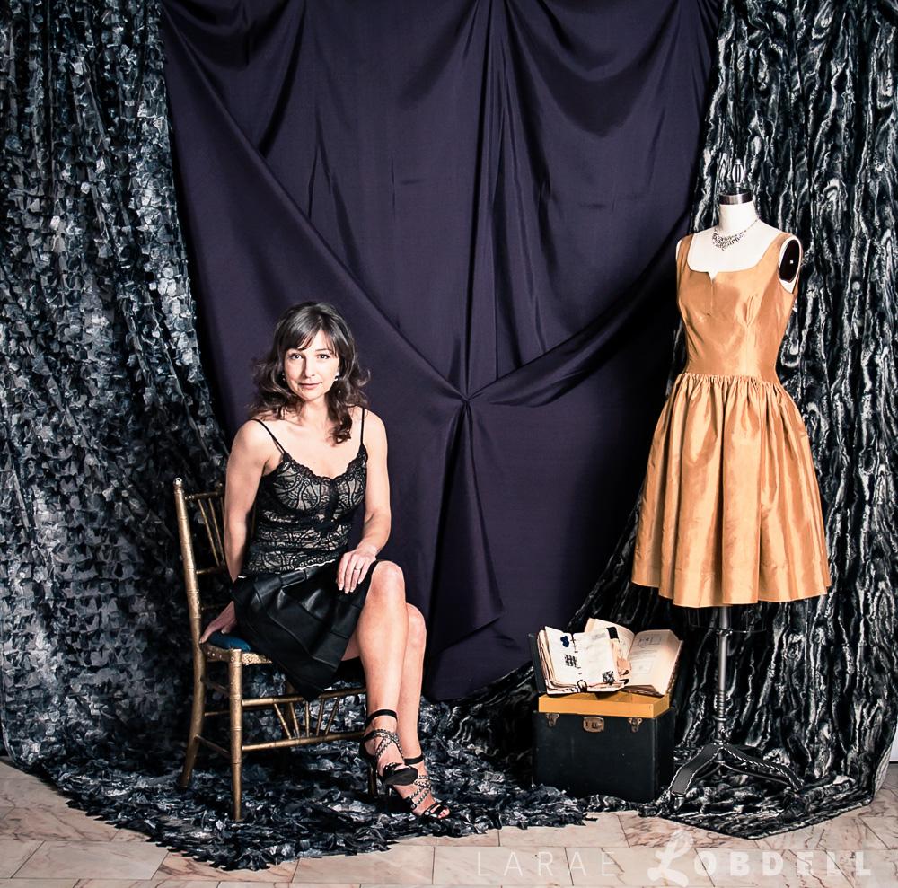 Couture fashion designer Julie Danforth, Seattle WA, February 10th, 2013.