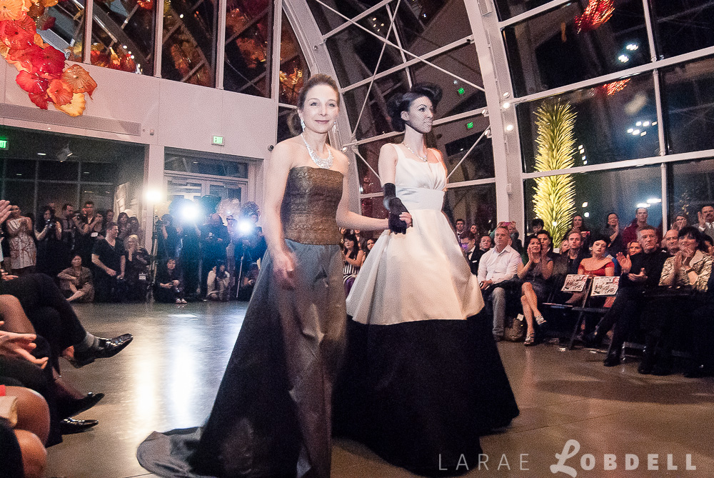 Designer Julie Danforth highlighted on the runway at Metropolitan Fashion Week 2013 at Chihuly Garden and Glass.