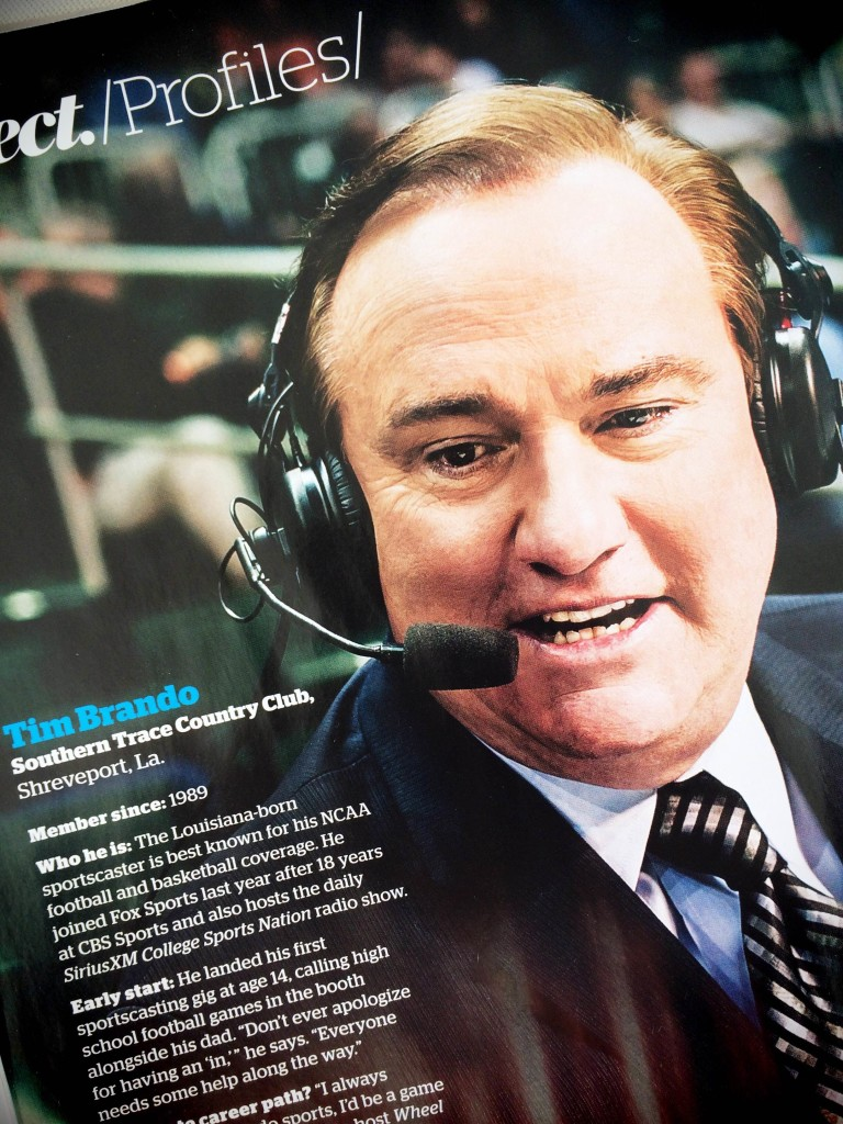 Fox Sportscaster Tim Brando at Miami University Men's Basketball Game on January 28, 2015