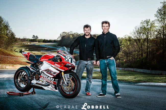 The custom Ducati 1199 Panigale built by master tech Jon Schiereck with AMA Pro Rider, Huntley Nash, of LTD Racing at Road Atlanta in Braselton, GA.