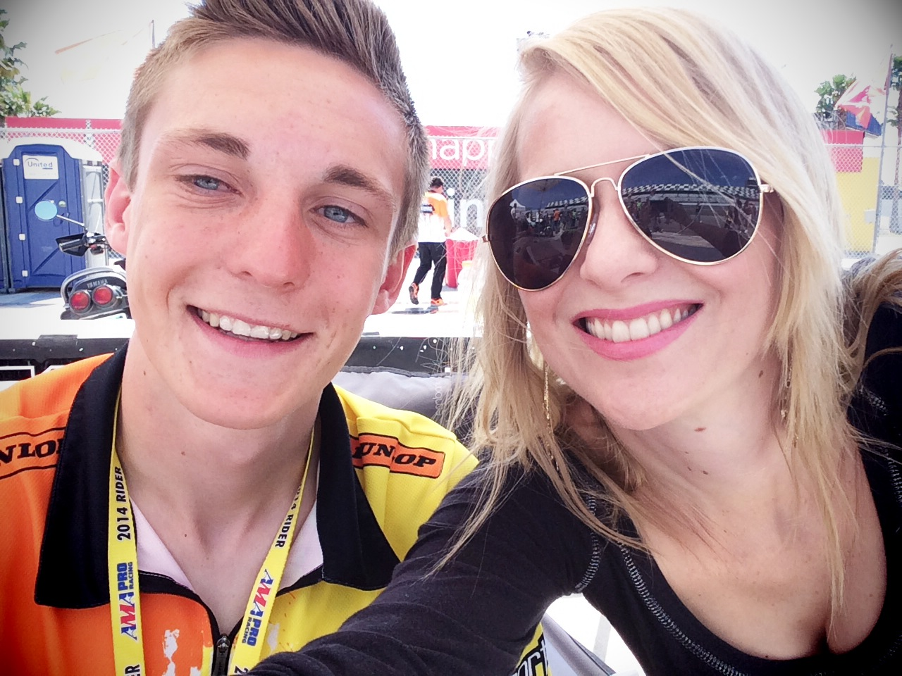 Meeting Kaleb De Keyrel at Daytona 200 in 2014