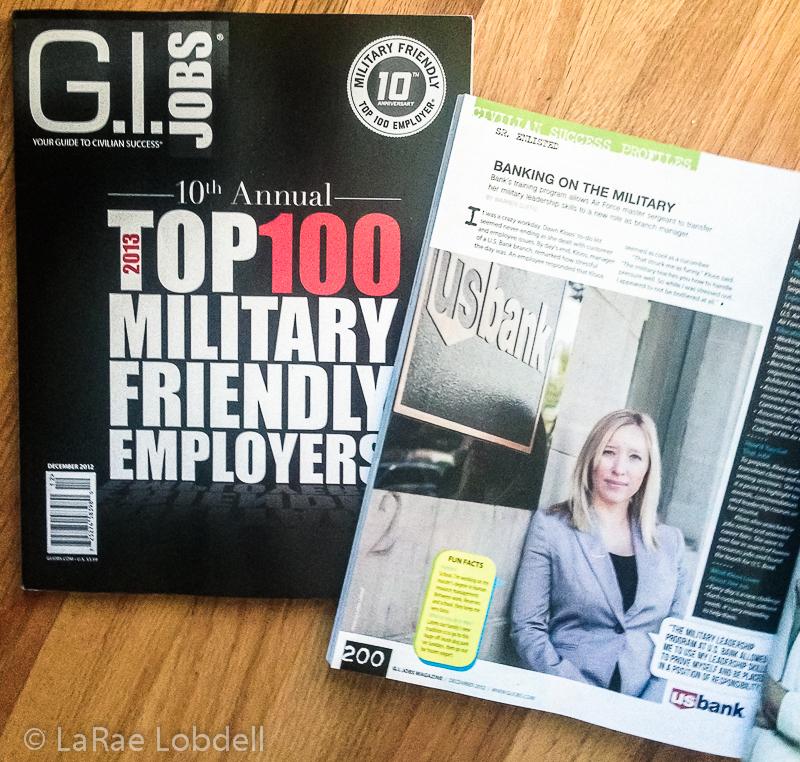 Photo Sister | G I  Jobs Magazine with US Bank