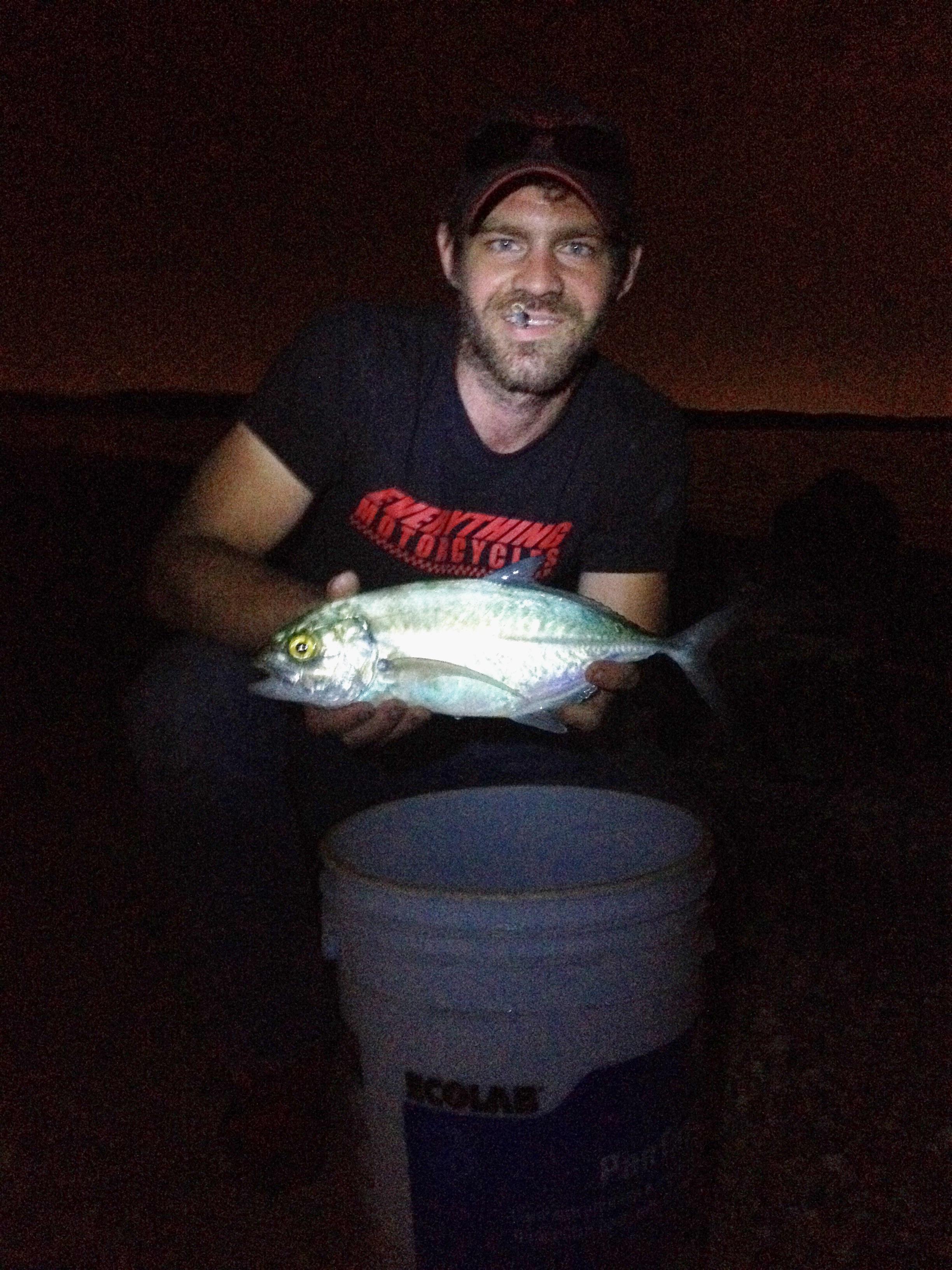 """Our Lesser Amberjack fish, aka """"Dinner"""", caught by Jon."""