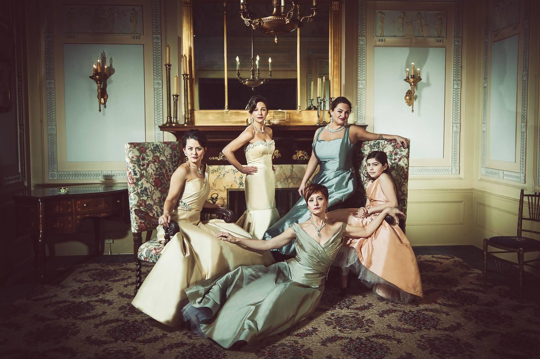 Fashion designer Julie Danforth and her bridesmaids.  processing by Dave Kai-Piper. Image  © LaRae Lobdell 2013.