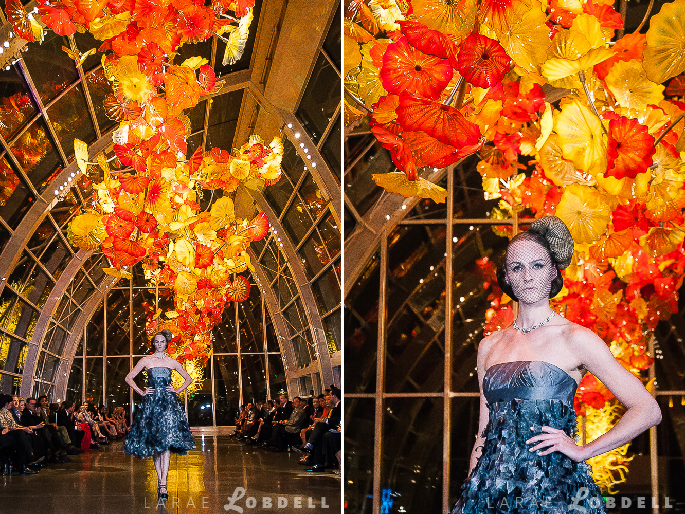 I'm thrilled that I am the very proud owner of this one-of-a-kind gown, designed by Julie Danforth and gowns highlighted on the runway at Metropolitan Fashion Week 2013 at Chihuly Garden and Glass.